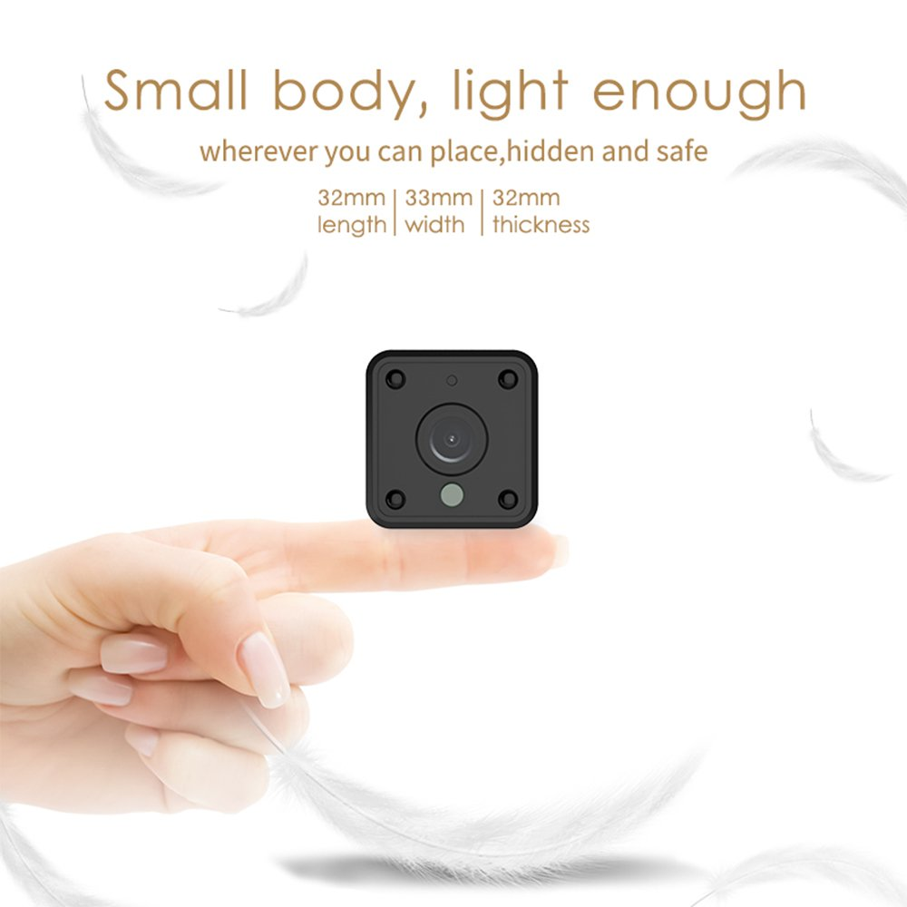 Amazon.com : Mini Wifi Spy Camera, Wireless Hidden Camera with Night Vision & Motion Sensor for Home Security Cameras, HD 1080P Battery Operated Nanny Cam ...