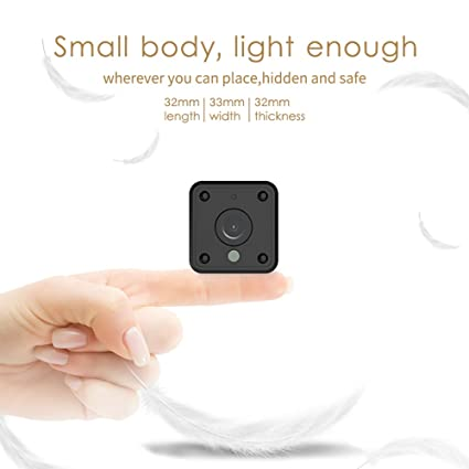 Mini Wifi Spy Camera, Wireless Hidden Camera with Night Vision & Motion Sensor for Home