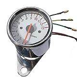 Generic LED Motorcycle Mechanical LED Motorcycle Gauge Tachometer Odometer Speedometer Speed Counter ReplacementTachometer Odometer Speedometer Mechanical 13000RPM