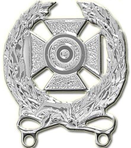 U.S. Army Expert Qualification Badge - BRIGHT NICKEL