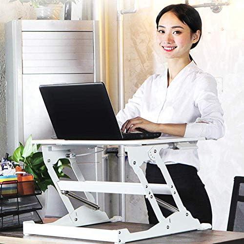ZTBXQ Computertische für kleine Räume White Standing Lifting Workbench Laptop Verstellbarer Tisch Vertikaler Tisch 60,5 x 40,5 cm