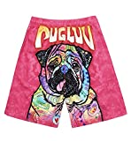 Pickin Couple Beach Pants Quick-Drying Fashion 3D Digital Printing Puppy Loose Leisure Shorts Men's Tide,Photo Color,XXL