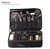 ROWNYEON Portable EVA Professional Make up Case Makeup Artist Case Makeup Train Case Make Up Artist Organizer Bag 14.1