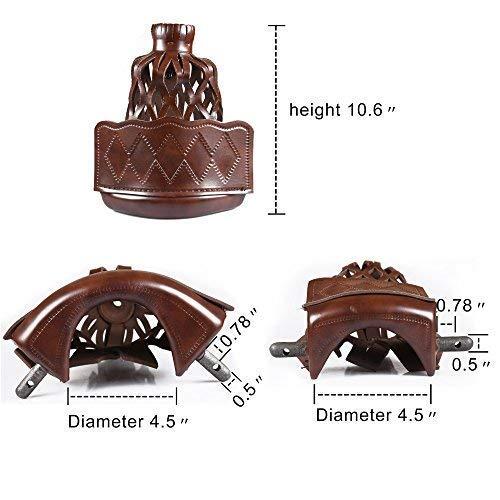 Pack of 6 Walnut T/&R sports PU Leather Pool Table Pockets Set Drop Bag Nets Heavy Duty Billiard Table Web