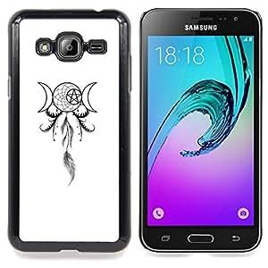 "Qstar Arte & diseño plástico duro Fundas Cover Cubre Hard Case Cover para Samsung Galaxy J3(2016) J320F J320P J320M J320Y (Estrella de la Muerte Pentagram Dreamcatcher"")"