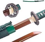 FUNAN SENGO Japanese Katana Sword Real Cold Steel Katana 9260 Spring Steel Full Tang Martial Arts Swords Samur