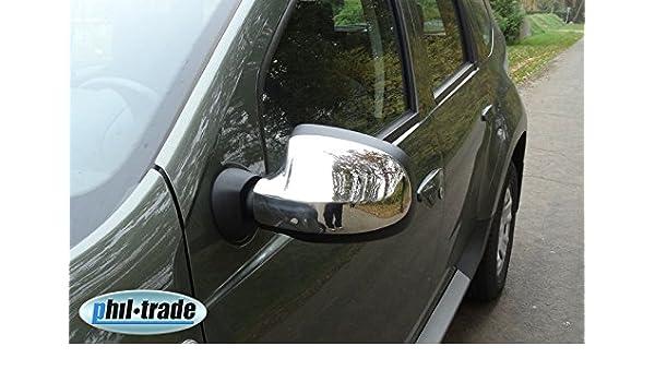 Retrovisores Duster 2012+ Sandero logan mcv 2008+ cromo espejo tapas de acero inoxidable: Amazon.es: Coche y moto
