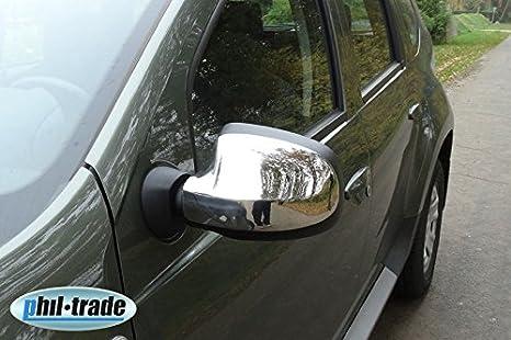 Duster 2012-2018 Copri specchietto in acciaio INOX cromato