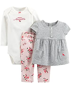 3 Piece Layette Set (Baby) - Heather-18 Months