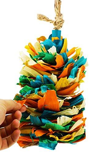 Image of Bonka Bird Toys 41333 Corn Silk Cascade Bird Toy Cage Toys Cages Foraging Chew Shredder Amazon