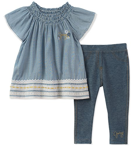 (Juicy Couture Girls' Big 2 Pieces Tunic Set, Blue, 7)