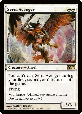 Magic: the Gathering - Serra Avenger (33) - Magic 2013 - Foil