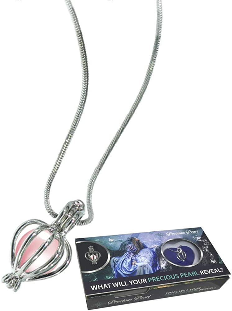 Northern Response Presents Precious Pearl by My Inspirations, Cultured Pearl in Oyster Necklace Kit Pendant with Rhodium Plated Chain 20 Inch