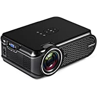 Mini Projector, Home Video HD Projector with 1080P Supported, LCD Projectors for Home Cinema Theater/Computer/TV/Laptop/Gaming/SD/iPad iPhone/Android Smartphone