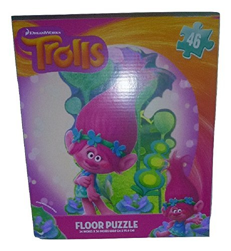 [DreamWorks Trolls Floor Puzzle 46 Piece Large Poppy Pink Haired Fun] (Homemade Princess Costumes For Kids)