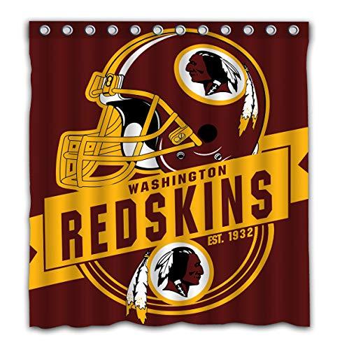 Felikey Custom Washington Redskins Waterproof Shower Curtain Colorful Bathroom Decor Size 66x72 -