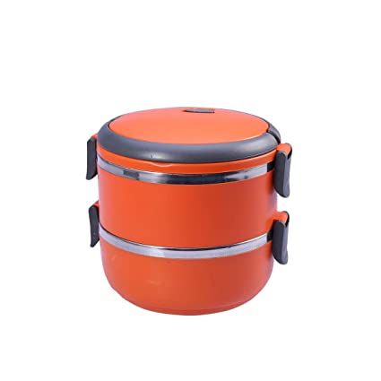 fa39cf683060 Buy BESTONZON Stainless Steel Thermal Lunch Box 2 Layers Food ...