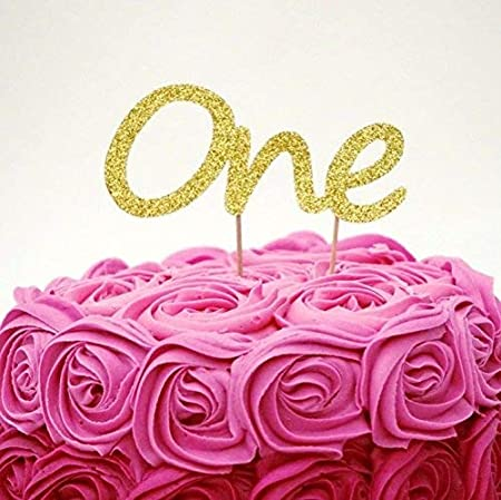 Awesome Lissielou Number One Birthday Large Cake Topper Gold 1St Funny Birthday Cards Online Amentibdeldamsfinfo