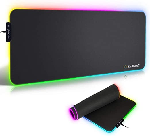 Tappetino Mouse Gaming, RGB Grande Mouse Pad 10 Effetti Luce XXL ...