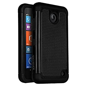 Nokia Lumia 635 Case, AERO ARMOR Protective Case for Nokia Lumia 635 - Black
