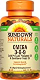 100 vegetarian omega 3 - Sundown Naturals Vegetarian Omega 3-6-9 495 mg, 50 Softgels