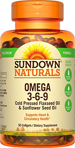 Sundown Naturals Vegetarian Omega 3-6-9 495 mg, 50 Softgels