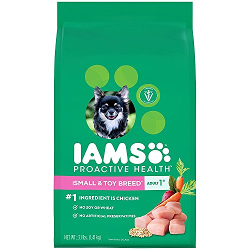 (3.1lbs – Pack of 5), IAMS Proactive Health Dry Dog Food, Small & Toy Breed