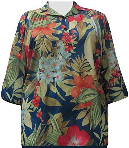 A Personal Touch Multi Floral Women's Plus Size Top