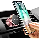 VICSEED Magnetic Phone Holder for Car, Air Vent Mount 360° Rotation Cellphone Car Holder Compatible iPhone Xs/Xs Max/XR/X / 8/8 Plus /7/7 Plus/ 6,Samsung S7 S8, HTC, LG, GPS Devices (Rose Gold)