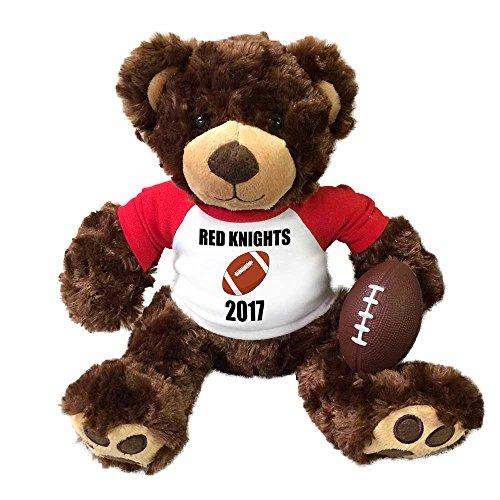Personalized Football Teddy Bear - 13 inch Brown Vera Bear ()