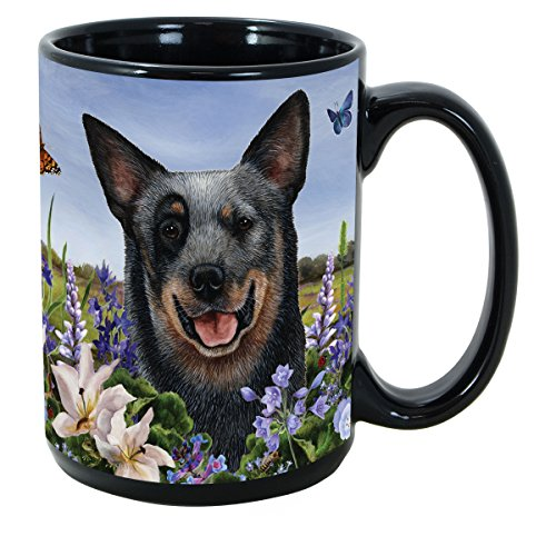 Garden Stoneware Party (Garden Party [A-K] Australian Cattle Dog 15 oz Coffee Mug Bundle with Non-Negotiable K-Nine Kash by Imprints Plus (003))