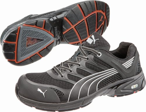 Men's Puma Safety Fuse Motion SD Low Safety Toe Shoes, Black/Black, 13D by PUMA