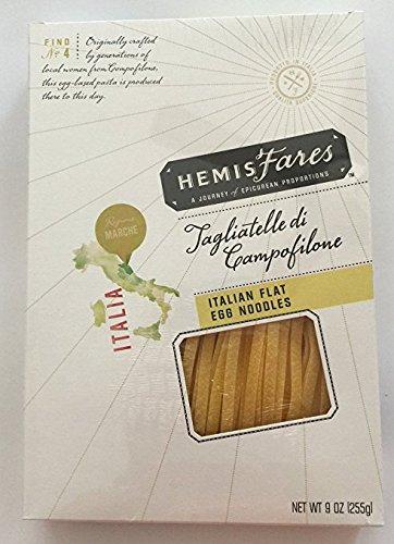 HemisFares Tagliatelle di Campofilone Italian Flat Egg Noodles 9 Oz Box (2 Boxes) by HemisFares