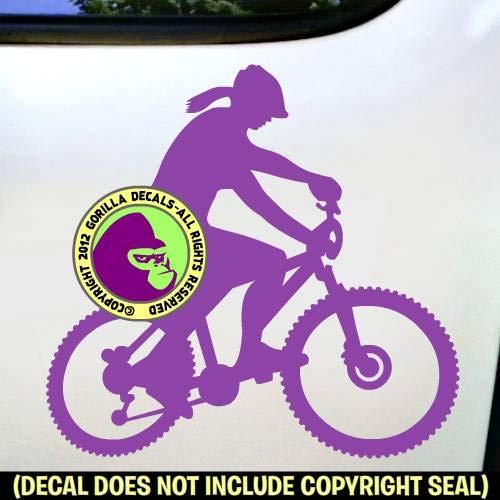 Female Mountain Bike Girl Biker Cycle Biking Vinyl Decal Sticker A