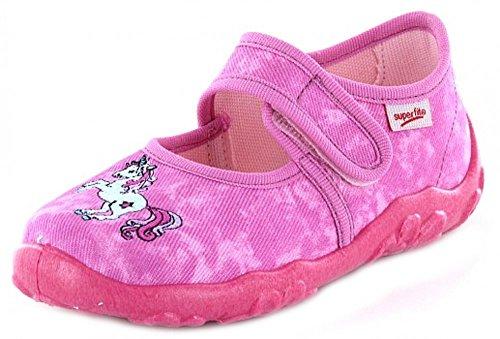 Super Fit Bonny 0-00282-64 Mädchen Hausschuh Kaltfutter Pink Kombi