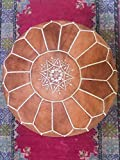 Marrakesh Style Amazing & Beautiful, Original Tan Brown poufs Moroccan Leather Pouf, Natural leather poufs, Home gifts, wedding gifts,