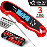 Digital Instant Read Meat Thermometer - Waterproof Kitchen Food Cooking Thermometer with Backlight LCD - Best Super Fast Electric Meat Thermometer Probe for BBQ Grilling Smoker Baking Turkey