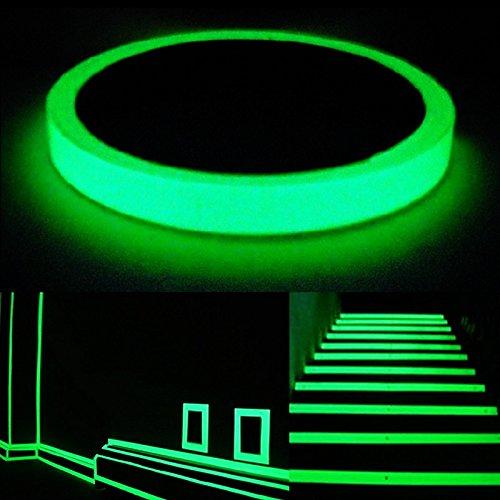 Auto - adhesivo Cinta Advertencia Autoadhesiva Correa Luminosa Resplandor Decoración Hogar 1m x 1.5cm
