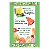 "DayMark IT112094 Laminated Workplace Safety and Educational Poster, Don't Contaminate, 11"" x 17"""