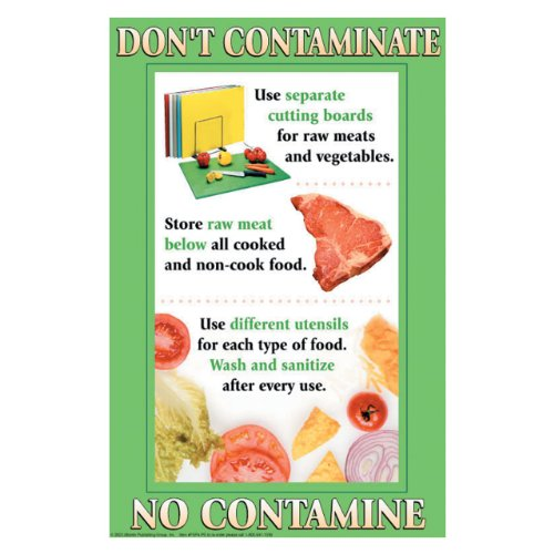 (DayMark IT112094 Laminated Workplace Safety and Educational Poster, Don't Contaminate, 11