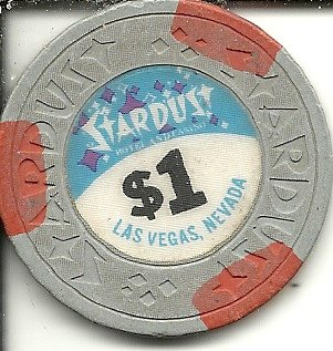 ($1 stardust gray rare obsolete vintage las vegas casino chip)