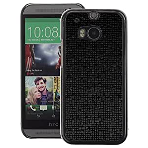 A-type Arte & diseño plástico duro Fundas Cover Cubre Hard Case Cover para HTC One M8 (Polygon 3D Art Pattern Futuristic Black)
