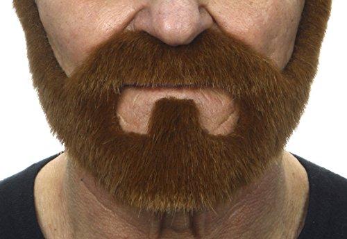 On bail ginger fake beard, self (Mustache And Beard Costume)