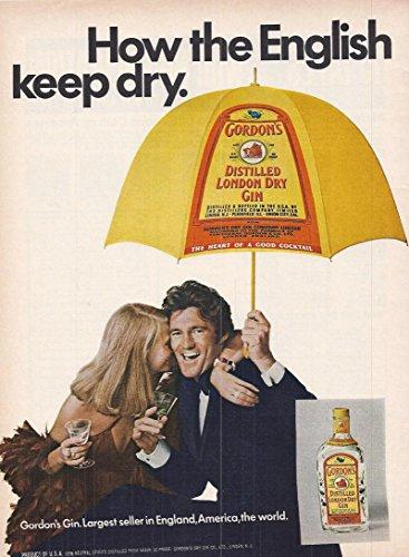 1973 Vintage Alcohol Advertisement Gordon's Distilled London Dry Gin (Gin Vintage Dry)