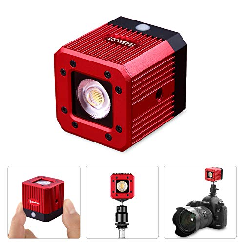 Dazzne Rechargeable Cube LED Video Light with 1/4