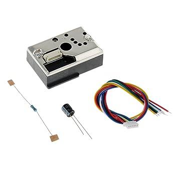Gazechimp Detector de Calidad del Aire Monitoreo de Partículas de Medidor de Polvo PM2.5: Amazon.es: Hogar
