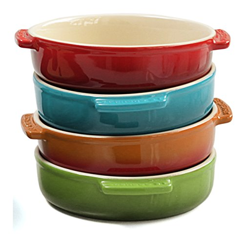 Le Creuset 4 Piece Multi-Color Stoneware 17 Ounce Tapas Dish Set (Tapas Dish Set)