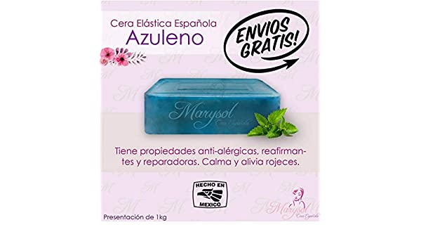 Amazon.com : Cera Depiladora de Azuleno Española Elastica Marysol hard wax Depilacion sin Bandas No-Strip Disposable Wax Salon Spa estetica Vello Corporal ...
