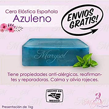 Cera Depiladora de Azuleno Española Elastica Marysol hard wax Depilacion sin Bandas No-Strip Disposable