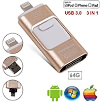 Farway  64GB USB Flash Drives for iPhone iPad IOS Android 64GB Memory Stick External Pen-Drive Storage Memory Stick ,Marceloant OTG Flash Drive External Storage Flash Memory Pen Drive